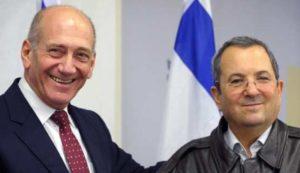 Barak y Ehud Olmert