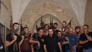 Brigadas Mártires Al Aqsa del partido Fatah en Balata. Flash 90a