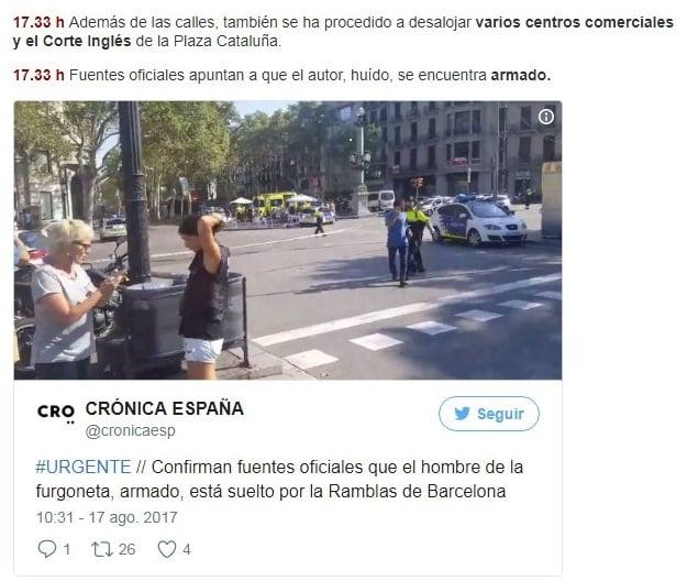 Confirman una víctima argentina entre los muertos — Atentado en Barcelona