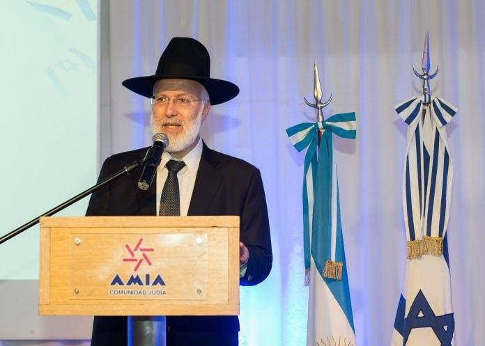 El Gran Rabino de la AMIA, delicado luego del brutal ataque antisemita