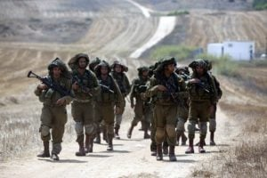 IDF-On-a-road-near-Gaza