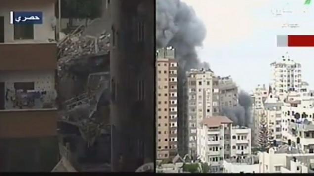 La aviaci n de israel demoli las oficinas del ministerio for Ministerio del interior direccion como llegar