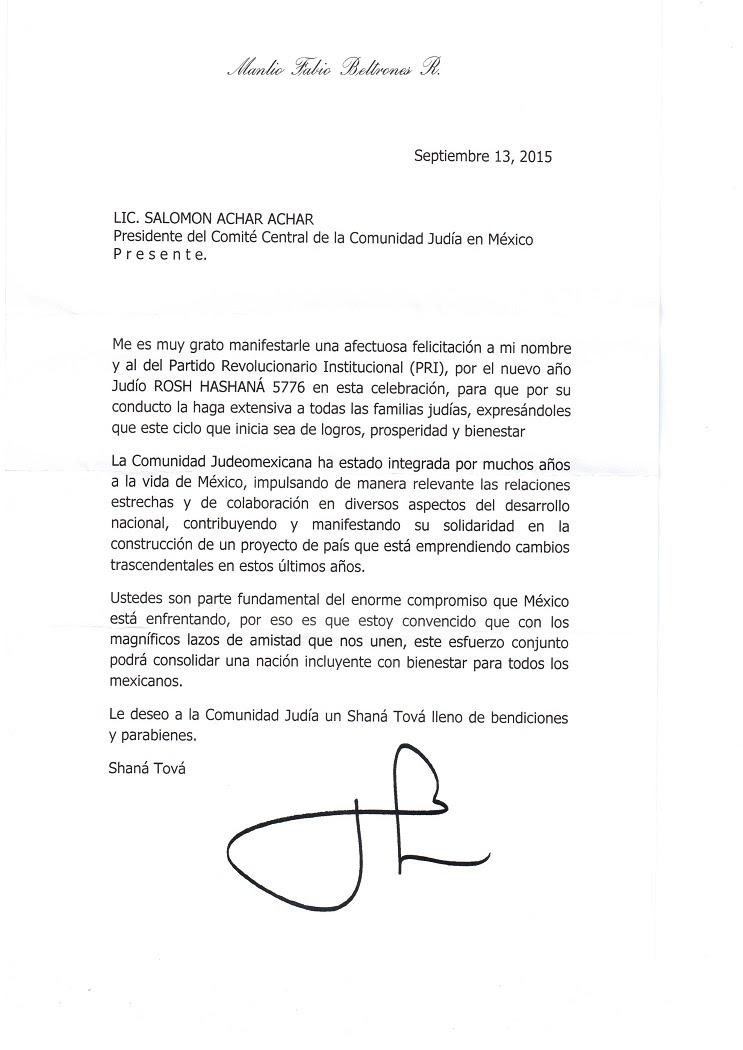 La Carta A La Comunidad Del Presidente Peña Nieto Y Otras