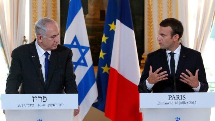 Macron a Netanyahu: Francia está preparada para enfrentar la amenaza de Hezbolá a Israel
