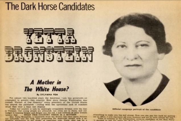 La increíble historia del ama de casa judía que casi gana la presidencia de los EE.UU.