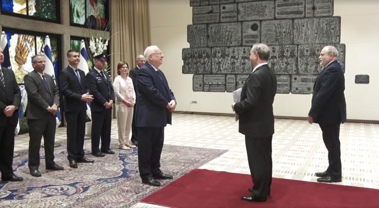 VIDEO/ Nuevo Embajador de México en Israel presenta credenciales al Presidente Reuven Rivlin