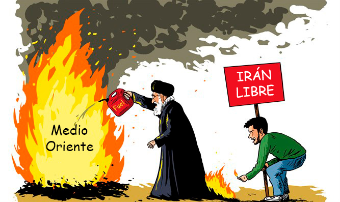 Caricatura / Irán Libre