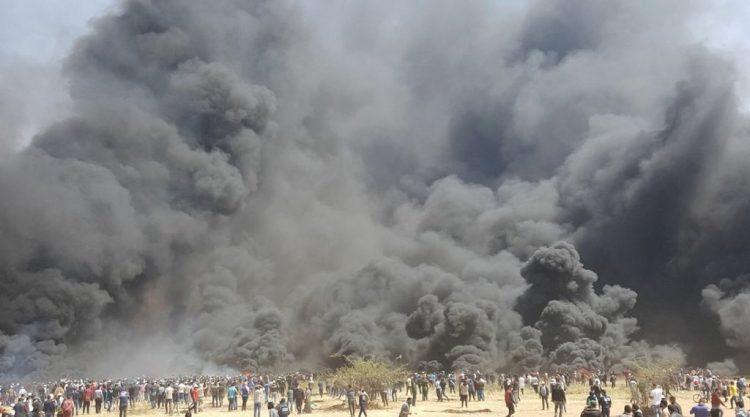 Cientos de heridos y al menos 9 palestinos muertos en protestas en Gaza