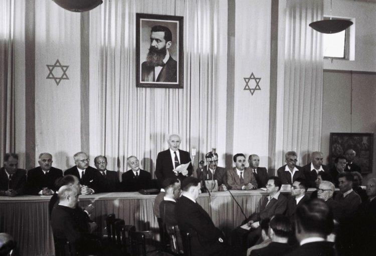 Firma la Declaración de Independencia de Israel y entra en las páginas de la historia