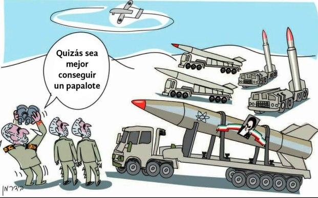 Caricatura: Dron iraní