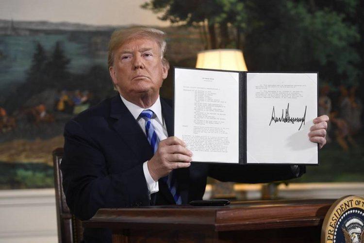 Abandona Trump el Acuerdo Nuclear con Irán, impone sanciones