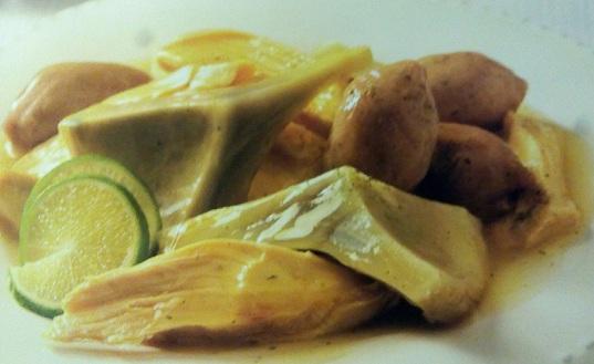 Alcachofas con pollo