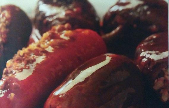 Berenjenas rellenas de trigo y carne
