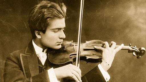 Huberman y su violín