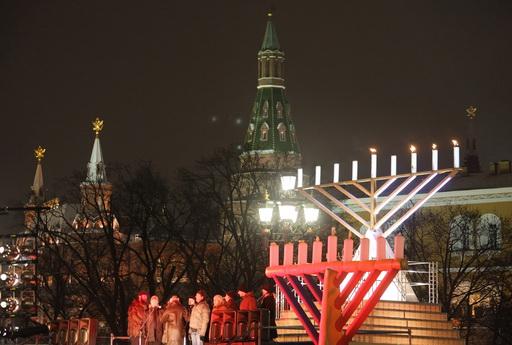 Sigue en vivo el encendido de velas de Janucá en la ciudad de Moscú