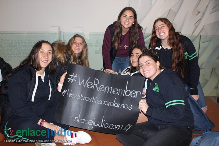 Estudiantes del colegio Atid y del colegio Eton conmemoran Holocausto