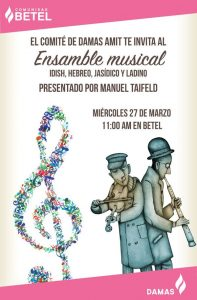 Ensamble musical (Idish, Hebreo, Jasídico y Ladino) @ en Bet- El
