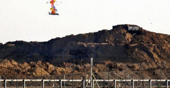 FDI dispara contra 2 células de Gaza que lanzaban globos incendiarios