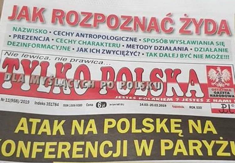 "Periódico de Polonia enseña a lectores ""cómo reconocer a un judío"""