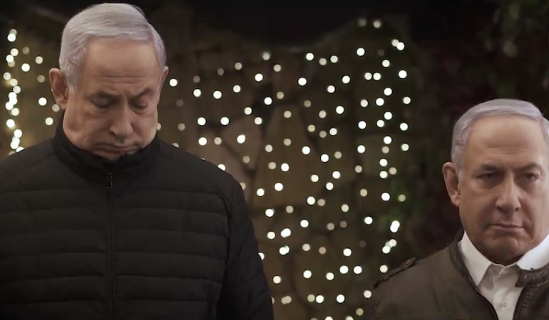 VIDEO: En Purim, Netanyahu pide a Gantz y Lapid que se quiten el disfraz