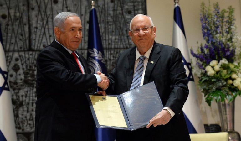 Rivlin encomienda oficialmente a Netanyahu para formar gobierno