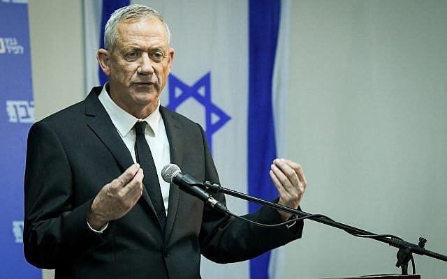 """""""El próximo gobierno distanciará a Israel de la ley y la democracia"""": Gantz"""
