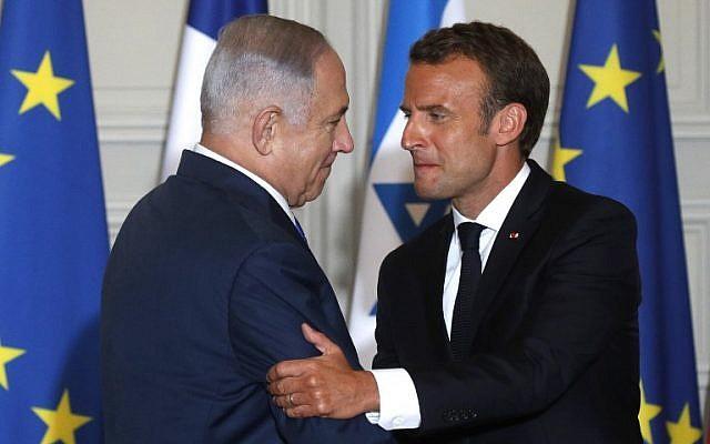 Macron felicita a Netanyahu por su victoria electoral
