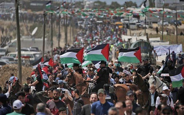 "Miles de palestinos conmemoran la ""Nakba"" con protestas masivas en Gaza y Cisjordania"