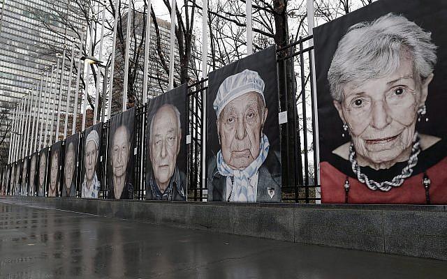Viena: fotos de sobrevivientes del Holocausto marcadas con esvásticas