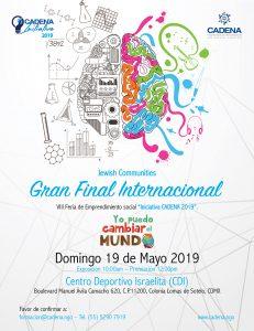 Final Internacional del 8vo. Certamen de Ideas Iniciativa CADENA 2019 @ en el Centro Deportivo Israelita (CDI)