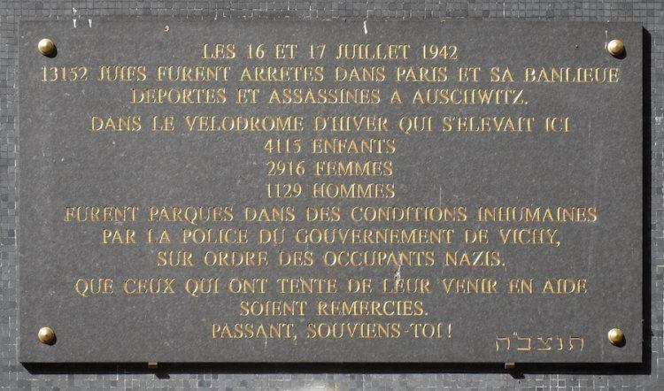 Vandalizan memorial a víctimas del Holocausto en Francia