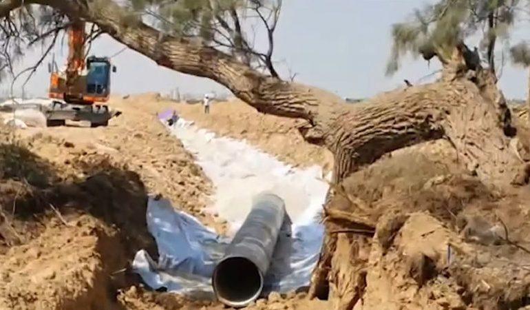 Israel instala el cuarto conducto de agua a Gaza, el más grande hasta ahora
