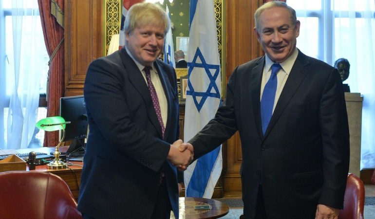 Netanyahu felicita a Boris Johnson, nuevo PM de Reino Unido