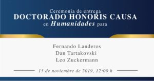 Ceremonia Honoris Causa en Humanidades @ en el Auditorio de la Universidad ORT México