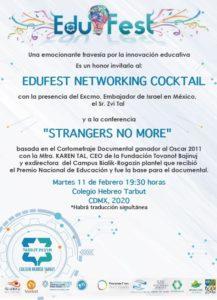 "Conferencia ""Strangers no more"" @ Colegio Hebreo Tarbut"