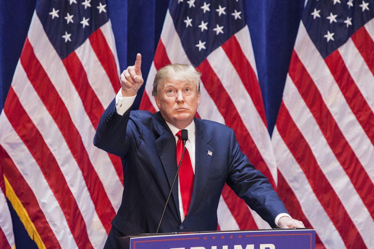 El presidente Donald Trump en un evento de su campaña presidencial