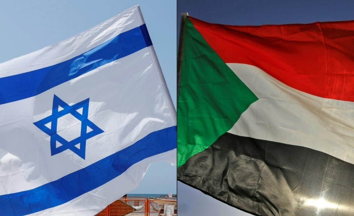 Banderas de Israel y Sudán