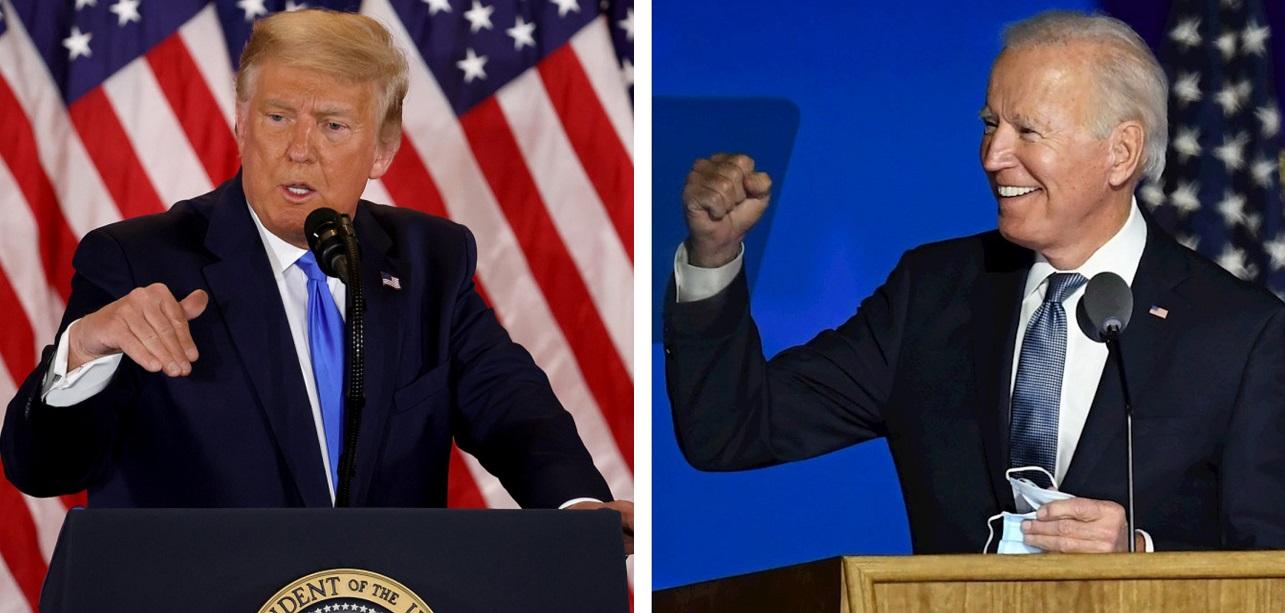 Fotografías de Donald Trump y Joe Biden