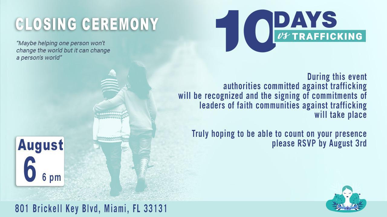 10 Days of trafficking. Closing ceremony